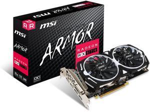 MSI Gaming Radeon RX 570 256-bit 8GB GDRR5 DirectX 12 VR Ready CFX Graphcis Card (RX 570 ARMOR 8G OC)