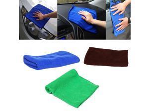 Green 1Pcs Microfiber Towel Kitchen Wash Auto Car Home Cleaning Wash Clean Cloth 25x25cm