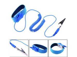 Anti Static Electricity Wristband ESD Grounding Bracelet Adjustable Wrist Strap PVC Cable