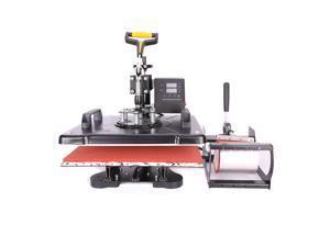 CO-Z 8-IN-1 12 x 15 Inch Heat Press Machines, T-shirt Press Tshirt/Mug/Cup/Hat/Cap/Plate Maker and Printer