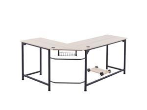 CO-Z L Shaped Computer Desk with Tower Stand | Corner Desk with Cable Management | Space-Saving 72x19 53x19 Home Office Desk w Underdesk Cable Tray and 2 Grommets | Simple Modern Gaming Desk, Oak