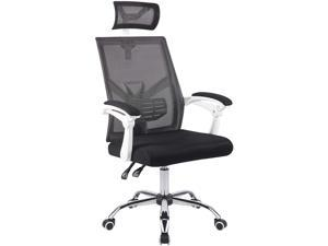 CO-Z Ergonomic Office Chair with Adjustable Height and Incline | High Back Executive Home Office Desk Chair with Wheels, Armrests, Mesh Back Support, and Headrest | Swivel Chair with Lumbar Support