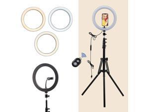 """CO-Z LED Ring Light with 2 Phone Holders 