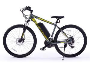 """VIRIBUS 27.5"""" Electric Mountain Bike with 350W High-Speed Brushless Motor   21 Speed All-Terrain Bicycle with Dual Disc Brakes & Removable 10Ah Battery   Adult Road & Offroad Bike for Men Women"""