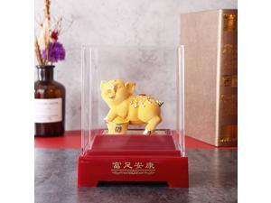 2019 Chinese Zodiac Gold Pig Money Wealth Statue Office Home Decorations Ornament Gift #2