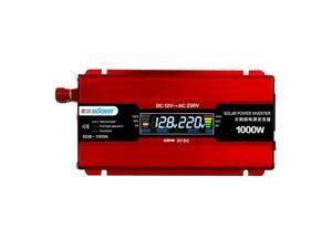 Suoer 1000W LED Display 12V To 220V Solar Car Power PV Inverter Converter USB Port Pure Sine Wave