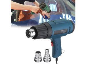 2000W 220V Industrial Adjustable Temperature Hot Air Blower Rework Station with 2Pcs Nozzles-Blue