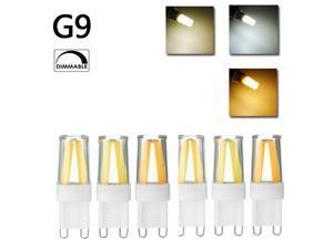 Dimmab G9 LED Silicone Crystal COB Home Lighting 360 Degree Light Bulb 110V Warm White