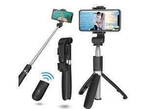 L01S Selfie Stick Wireless bluetooth Extendable Handheld Monopod Foldable Tripod With Shutter Remote For Sport Camera Phone Black