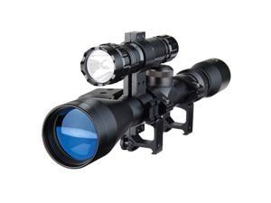Pinty 3-9X40 Duplex Optical Hunting Rifle Scope Combo with Red Laser and Torch