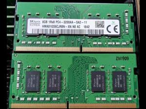 SK HYNIX HMA81GS6CJR8N-XN 8G 3200 DDR4 1Rx8 PC4-3200AA-SA2-11 260Pin SODIMM 1.2V For Laptop
