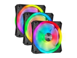 CORSAIR QL Series, iCUE QL120 RGB 120mm RGB LED Fan, Triple Pack with Lighting Node CORE