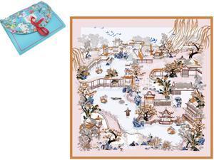 "Luxury Gift 100% Pure Silk Scarfs For Women Square Hair Scarf Wrap Headscarf 35""*35"" Yard"