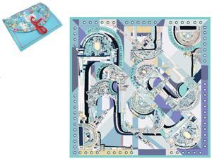 "Luxury Gift 100% Pure Silk Scarfs For Women Square Hair Scarf Wrap Headscarf 35""*35"" Art Deco"