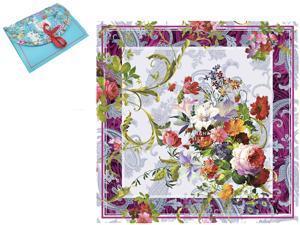 "Luxury Gift 100% Pure Silk Scarfs For Women Square Hair Scarf Wrap Headscarf 35""*35"" Flower Digital Print"