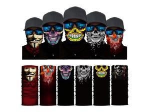 ALLAXDO Halloween Outfits 6 Pack Silk Feeling Multifunctional Face Cover Face Mask Bandanas Scarf For outdoor (10)