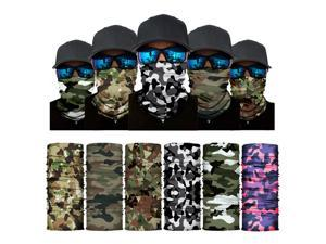 ALLAXDO Halloween Outfits 6 Pack Silk Feeling Multifunctional Face Cover Face Mask Bandanas Scarf For outdoor(9)