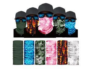 ALLAXDO Halloween Outfits 6 Pack Silk Feeling Multifunctional Face Cover Face Mask Bandanas Scarf For outdoor(1)