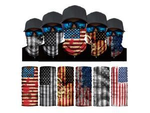ALLAXDO Halloween Outfits 6 Pack Silk Feeling Multifunctional Face Cover Face Mask Bandanas Scarf For outdoor(4)