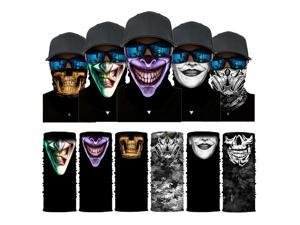 ALLAXDO Halloween Outfits 6 Pack Silk Feeling Multifunctional Face Cover Face Mask Bandanas Scarf For outdoor(11)