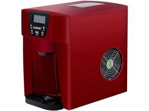 KUPPET 2 in 1 Countertop Ice Maker, Produces 36 lbs Ice in 24 Hours, Ready in 6min, LED Display (Red)