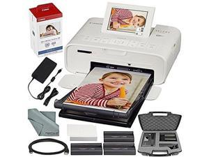 Canon SELPHY CP1300 Compact Photo Printer (White) with WiFi and Accessory Bundle w/ Canon Color Ink and Paper Set + Case + More
