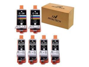 Compatible with Canon PGI35 amp CLI36 Pixma iP110 iP100 Ink Cartridges 4 Black 2 Color 6 Pack Color Set Use for Canon PIXMA iP110 iP100 mini260 mini320 Printer