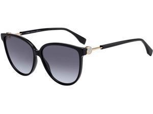 Fendi-FF0345/S-0807/GB Black Gray Azure