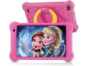 Surfans Kids Tablet, 7 inch IPS FHD Display, 2GB RAM, 32GB ROM, WiFi Android Tablets for Kids with Kids-Proof Case, Pink