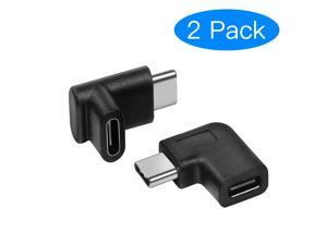 USB C Male to Female Adapter, Type C 90 Degree Angled Right & Left and Up & Down Extension Connector for Laptop & Tablet & Mobile Phone  (2PACK)
