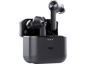 Aigo T09 Wireless Bluetooth Headphones Bluetooth 5.0 Binaural Music Mini Sports Headphones Universal Apple Huawei Xiaomi Phone New Product Touch Smart Waterproof Headphones T09 Black