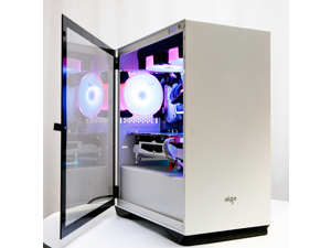 Aigo YOGO M2 white game pill MINI computer case (support M-ATX motherboard/240 water-cooled/side-opening magnetically attracted tempered glass side through)