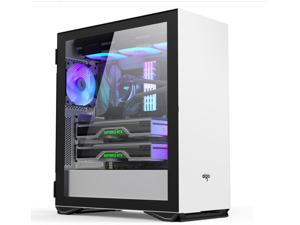 Aigo YOGO M2 PRO white gaming shoebox computer case E-ATX/ATX motherboard/360 cold row/side-pull tempered glass/vertical graphics card