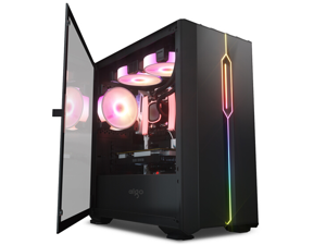 Aigo  YOGO M3 black game pill MINI side through computer case (support M-ATX motherboard/240 water-cooled/side-opening magnetic tempered glass)