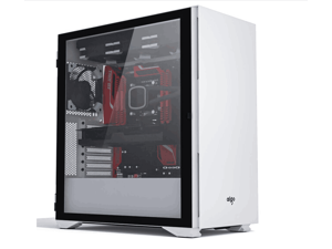 Aigo YOGO K1 white ultra-high compatibility 9 fan positions computer case (support E-ATX/ATX motherboard / dual 360 water cooling / tempered glass full side)