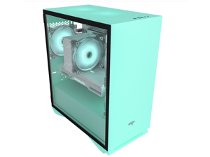 Aigo YOGO M2 mint green game pill MINI computer case (support M-ATX motherboard/240 water cooling/side-opening magnetic tempered glass side penetration)