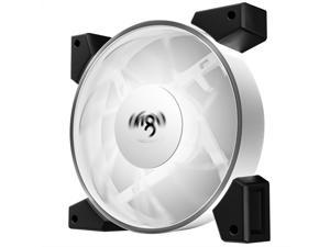 Aigo Twilight 120mm white light computer case fan (small 3P+large 4P/double-sided injection molding process/LED surround lamp beads/freebie 4 screws)