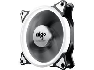 Aigo 120mm white light computer case fan (small 3P+large 4P dual interface/water cooling exhaust/shock absorption feet/freebie 4 screws)