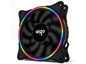 Aigo (aigo) Ice Soul Rainbow V1 chassis fan with 120mm thin aperture (supports large 4P serial interface/water cooling exhaust/shock absorption feet//freebie 4 screws)