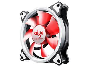 Aigo 120mm red light computer case fan (small 3P+large 4P dual interface/water cooling exhaust/shock absorption feet/freebie 4 screws)