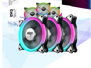 Aigo (aigo) octave space 140mm C3PRO radiator set computer case fan (color change / comes with controller / motherboard synchronization / mute foot pad /)
