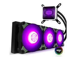 Aigo Ice Soul T360RGB Edition Integrated water-cooled CPU radiator (PWM intelligent temperature control fan / full platform support / silent ceramic bearing / with silicone grease)