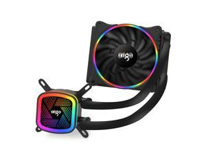 Aigo (aigo) Ice Tower V120 Rainbow Edition Integrated water-cooled CPU radiator (PWM intelligent temperature control fan / full platform support / silent ceramic bearing / with silicone grease)