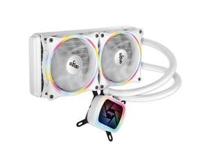 Aigo Ice Tower V240 White Rainbow Edition Integrated Water-cooled CPU Cooler (PWM Intelligent Temperature Control Fan/Full Platform Support/Mute/With Silicone Grease)