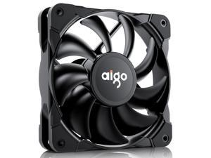 Aigo Frost T1 12CM black PWM temperature control computer case fan (small 4pin motherboard/intelligent temperature control/shock absorption foot pad/mute/Get it for free 4 screws)