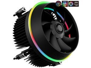 Aigo (aigo) Disc Video RGB Symphony Edition CPU cooler (supports motherboard Shenguang synchronization / Intel platform / Symphony lighting effect / down pressure / silent / with silicone grease)