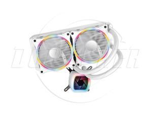 SA  Tower V240 White Rainbow Edition Integrated Water-cooled CPU Cooler (PWM Intelligent Temperature Control Fan/Full Platform Support/Mute/With Silicone Grease)