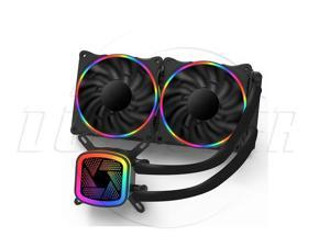 SA  Ice Tower V240 Rainbow Edition Integrated water-cooled CPU radiator (PWM intelligent temperature control fan / full platform support / silent ceramic bearing / with silicone grease)