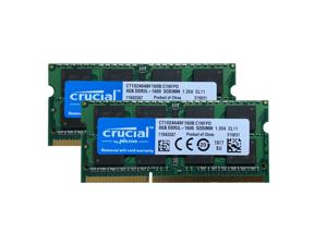 Crucial 16GB (2 x 8GB) 204-Pin 1600 MHz CL11 DDR3 SO-DIMM DDR3L 1600 (PC3L 12800) Laptop Memory Model CT102464BF160B