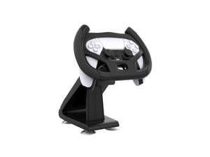 SA PS5 Steering Wheel, Driving Game Steering Wheel Racing Controller Set Stand Bracket Holder for Sony Playstation 5 Dualsense Controller with 4 Table Suction Cup Mount